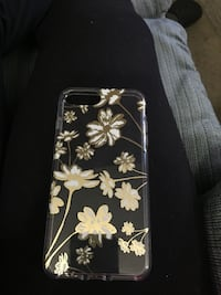 clear and yellow floral iPhone case