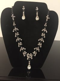 silver-colored necklace and earrings Whitby