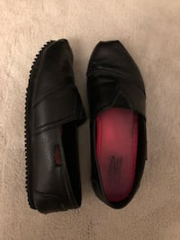 pair of black leather slip-on shoes Falls Church, 22042