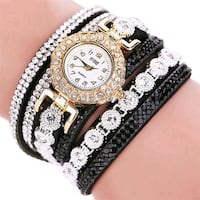 Women's Black Bracelet Watch