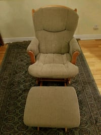 brown fabric padded rocking chair Montreal, H4A