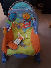 baby's blue and green portable swing St. Albert, T8N 2T1