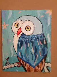 blue and white owl print textile Knoxville, 37918
