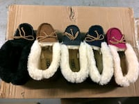 three pairs of knitted shoes 102 mi