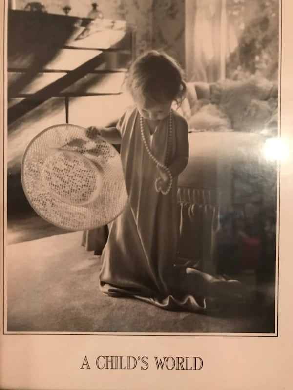 Adorable!!!!Matted Framed Picture of little girl playing dress up 6f00a263-aca8-4d31-9aed-70addb375c6a
