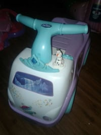 toddler's white and purple Disney Frozen ride on toy Kyle, 78640