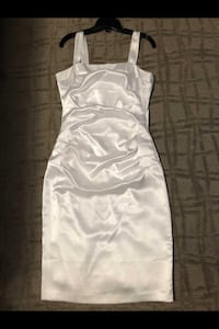 Silky White Spaghetti Strap Dress Winnipeg, R2L