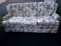 white and gray floral 3-seat sofa Ottawa, K1P 1E3
