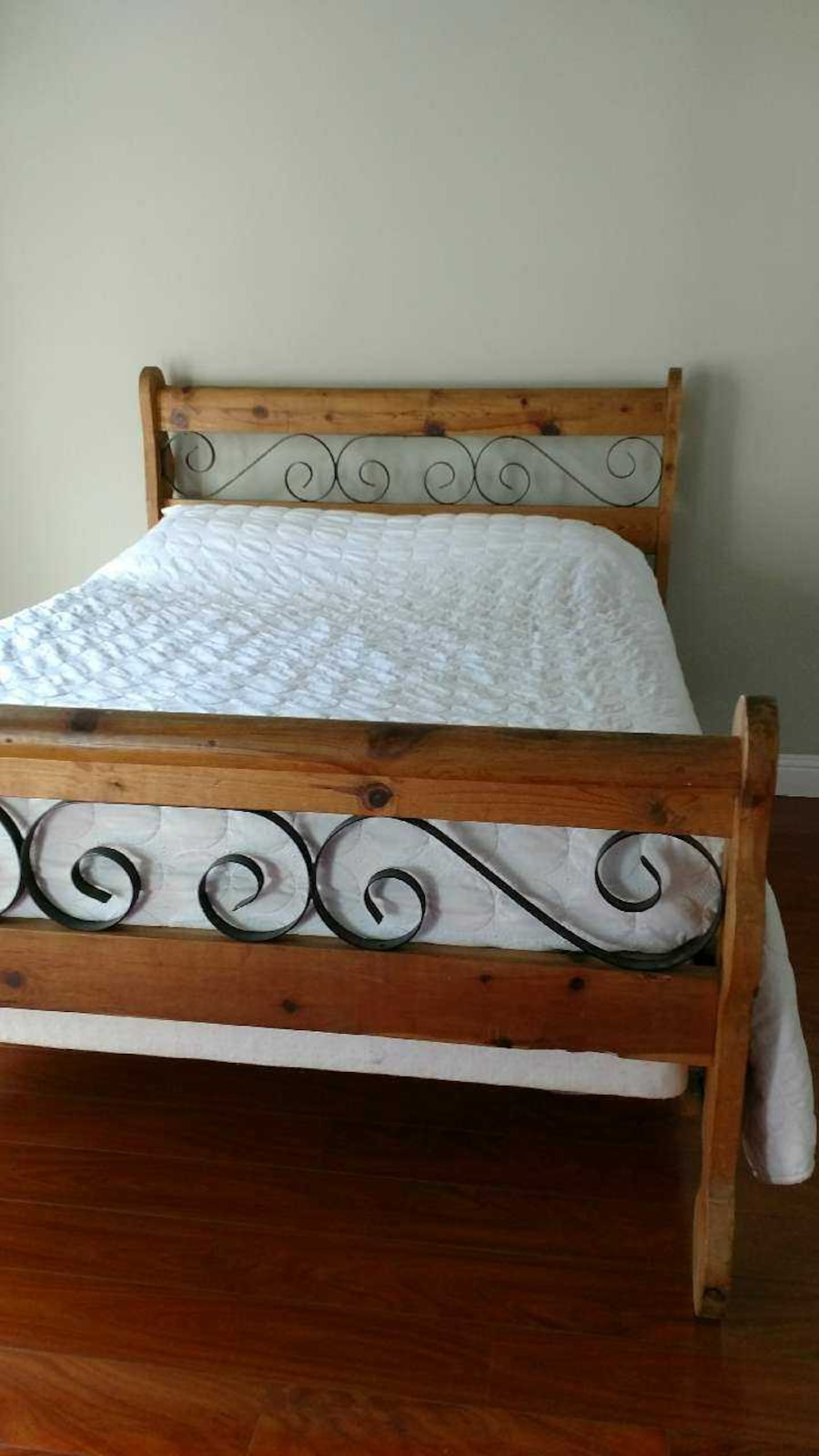 used rustic spanish queen bed frame in fullerton. Black Bedroom Furniture Sets. Home Design Ideas