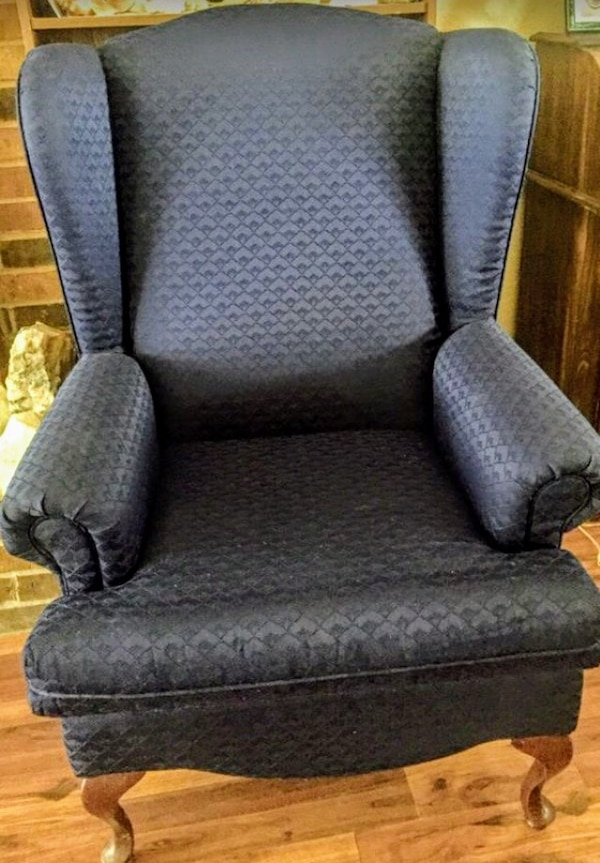 Navy Wingback Chair