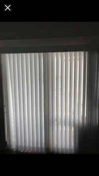 Vertical blinds covered in sheer white material 70x80 Centerville, 84014