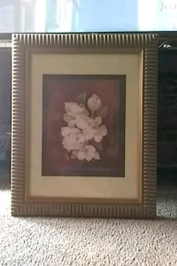 white petaled flower painting with gray frame Gretna, 70056