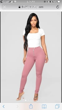 Blush Fashionnova Jegging Size Large Falls Church, 22046