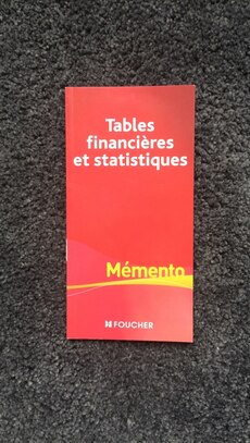 Tables Financieres book