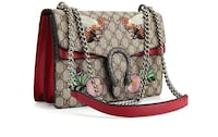 brown and red floral leather handbag Calgary, T2K 2Y6