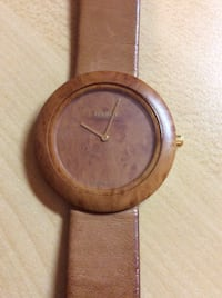 Authentic Tissot wood watch with leather strap Brampton, L7A 1H9