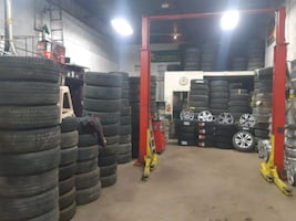 Seasonal tire rotation▪used and new tires▪Alloy ri