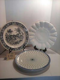 Just white ceramic plate.Others are sold. San Diego, 92115