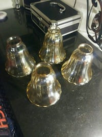 two clear glass candle holders Goose Creek, 29445
