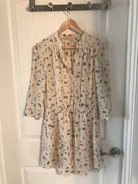 women's white and brown floral dress 3153 km