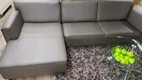 Brand New Leather Grey Sectional  Surrey, V3W 4M9