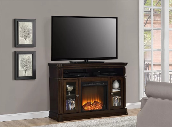 used tv stand for tvs up to 50 with fireplace espres for sale in rh us letgo com