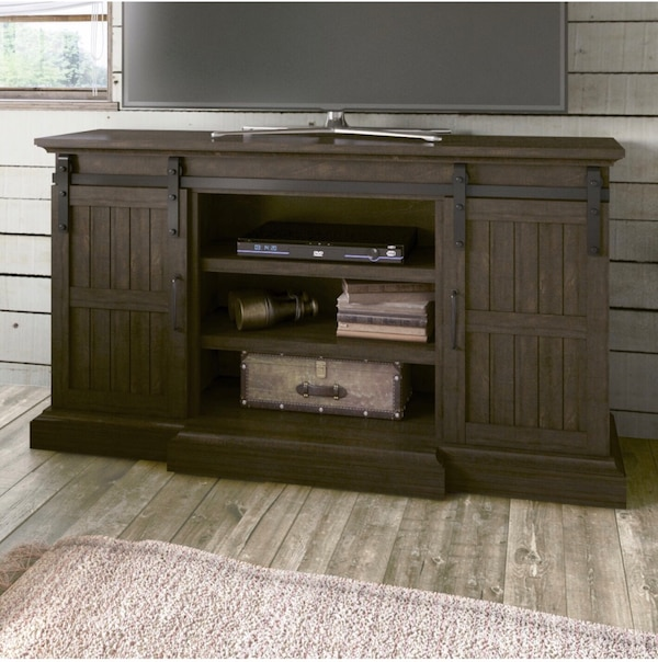 Beautiful TV stand with rustic cottage look