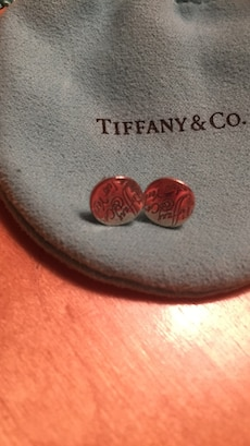 silver Tiffany and Co. earrings