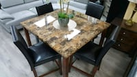 Counter heigh dining set 5pc, faux marble top Las Vegas, 89121