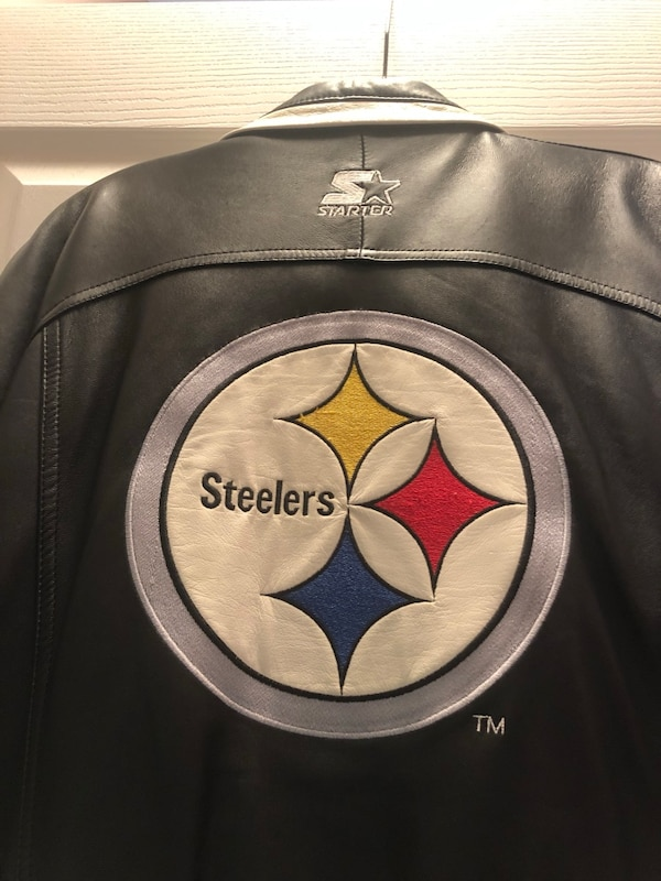 wholesale dealer 09240 f0bd9 Pittsburgh Steelers men's leather NFL PRO LINE STARTER JACKET