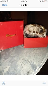 two silver and gold rings in box VIRGINIABEACH