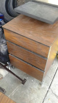 brown wooden 3 drawer chest Kelowna, V1X 3Y7