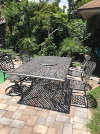 Outdoor furniture -patio table and chairs with matching bar ORLANDO