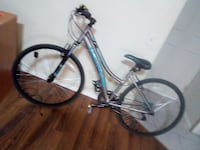 gray and blue hardtail bicycle CALGARY