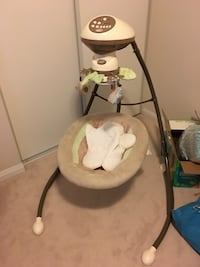 baby's white and gray cradle n swing Pickering, L1W 3M5