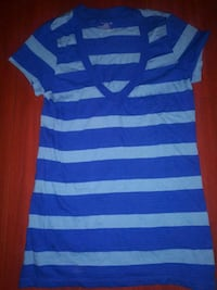 blue and white striped polo shirt Los Angeles, 90007