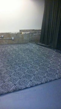 Blue diamond pattern with paddling area rug embroi