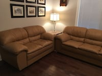 brown fabric 3-seat sofa and loveseat Mississauga, L5N 7W7
