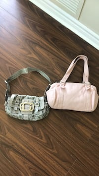 White and brown leather crossbody bag Mississauga, L5A