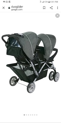 "GRACO ""DUOGLIDER"" DOUBLE-SEAT STROLLER"