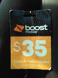 Boost Mobile re-boost card Buford, 30519