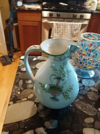 white and blue floral ceramic pitcher Alexandria, 22303