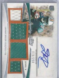 Dolphins Lamar Miller certified autograph card Lakewood, 90712