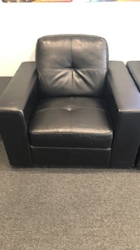 black leather sofa chair with ottoman Glendale, 91204