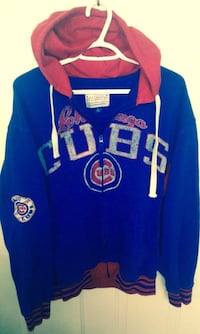 Chicago Cubs Full Zip Hoodie By Carl Banks Size Large London