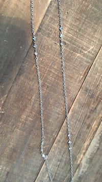 Swarovski crystal long layering necklace