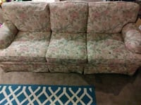 brown and white floral 3-seat sofa 376 mi