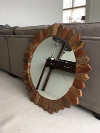 brown wooden framed wall mirror Waterdown, L9H 7H5