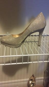brown and gray leather platform stiletto Lincoln, L0R