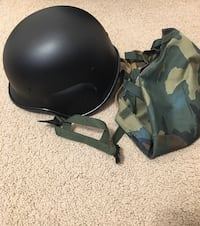 Helmet and woodland cover